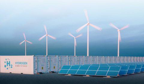 Wind und Wasser zu Ammoniak - maritimer Kraftstoff und  Energiespeicher für eine emissionsfreie Zukunft